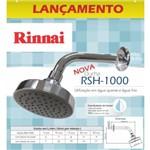 Ducha Rinnai RSH-1000 Redonda Aço Inox