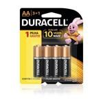 Duracell Pilha Alcalina AA Leve 4 Pague 3