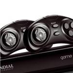 DVD Game Star - D-03 - com USB Frontal, MP3, Karaokê com Pontuação, Função Ripping e Copy, 600 Games com 2 Joysticks, 1 Microfone, Duas Entradas de Microfone - Mondial
