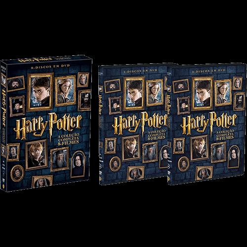 DVD Harry Potter a Coleção Completa 8 Filmes