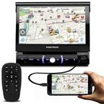 """Dvd Player Automotivo Pósitron Sp6330bt 1 Din 7"""" Retrátil Bluetooth Touch Espelhamento Usb Sd Mp3"""