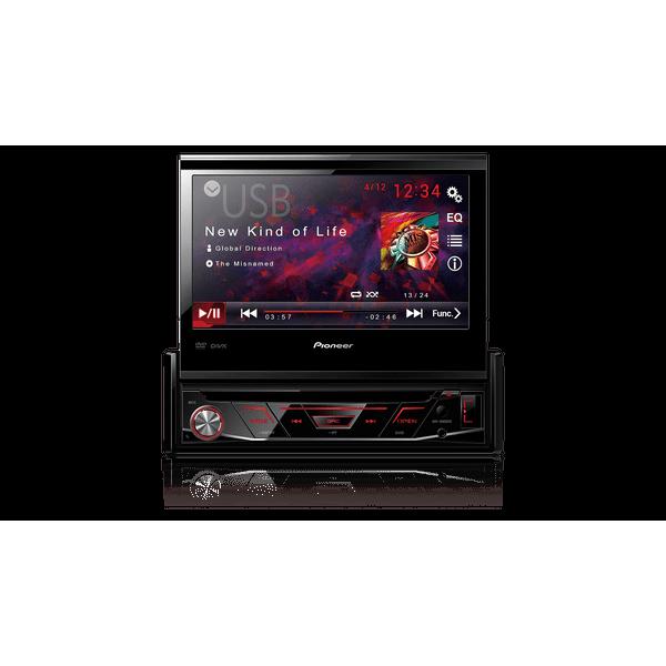 Dvd Player AVH-4880BT Pioneer 1 Din 7 Pol Retrátil Bluetooth USB AUX RCA AM FM