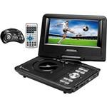 """DVD Player Portátil Mondial Play Action Tela 7"""" Giratória com 600 Jogos, Função Ripping/Copy e Suporte para Carro"""