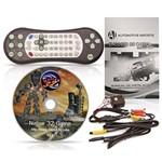 DVD Player Tela Encosto de Cabeça 7 Polegadas LCD com Game USB SD Botões Touchcreen