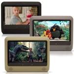 DVD Player Tela para Encosto de Cabeca 9 Polegadas LCD Cinza