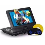 Dvd Portátil e Tv Digital 7 Polegadas Hdtv Mp3 Cd + Jogos