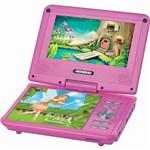 Dvd Portátil Mondial 4680-01 Fadas Encantadas Rosa com Entrada USB