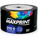 DVD-R Maxprint 4.7gb 120min 1x-16x 50 Unidades 1023857