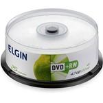 DVD+RW Elgin 4.7GB/120min 4X (Cake C/ 25)