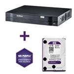 Dvr Cftv Gravador Digital Vídeo Tri-Hibrido Hdcvi 1016 Hdmi 720p Intelbras com Hd Wd Purple 1tb