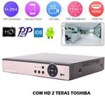 Dvr com Hd 2 Teras Toshiba Hibrido 8 Canais H.264 1080p Full Hd A6x08nr