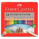 Ecolápis de Cor Grip - Faber-Castell Estojo Lata com 24 Cores - Ref 121024lt