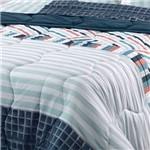 Edredom Dupla Face Casal New Confort Business - Altenburg - Azul