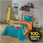 Edredom Solteiro Estampado Surf Kombi Lepper 2pçs