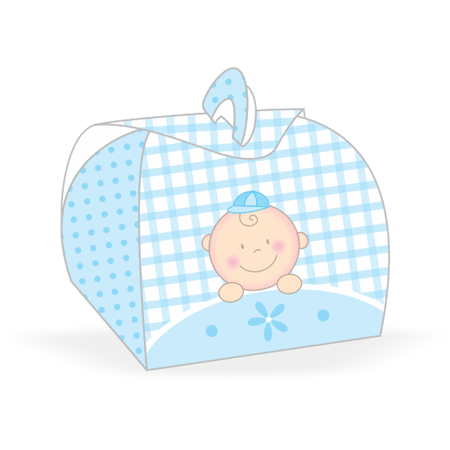 Embalagem Bem Casado Baby Menino Embalagem para Bem Casado Baby Menino - 12 Unidades