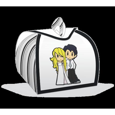 Embalagem Bem Casado Noivinhos Loiros Embalagem para Bem Casado Noivinhos Loiros - 12 Unidades