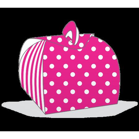 Embalagem Bem Casado Pink com Branco Embalagem para Bem Casado Pink com Branco - 12 Unidades
