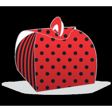 Embalagem Bem Casado Vermelho com Preto Embalagem para Bem Casado Vermelho com Preto - 12 Unidades
