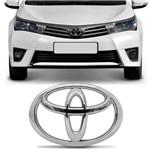 Emblema Grade Dianteira Toyota Corolla Cromado Encaixe Perfeito