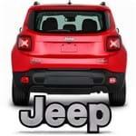 Emblema Letreiro da Tampa do Porta Malas Jeep Renegade 2016 2017 Cromado - Original