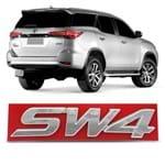 Emblema SW4 do Porta Malas Hilux SW4 2005 a 2018 Cromado