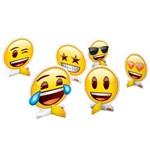 Emoji Decoração Mesa C/8 - Festcolor