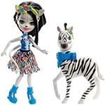 Enchantimals - Boneca com Bichinho Grande - Zebra Zelena & Hoofette Fky75 - MATTEL