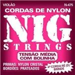 Encord. Violao Tensao Media Nylon C/Bolinha N475 Nig