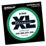 Encordoamento Baixo D Addario Ecb80 040 Chromes