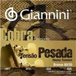 Encordoamento Cavaco Giannini Cc82h Pesado Bronze 80/20