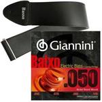 Encordoamento Giannini Baixo de 4 Cordas 050 105 GEEBRSX + Correia Basso