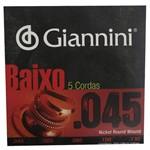 Encordoamento Giannini para Baixo 4 Cordas 0.045- Jogo de Cordas
