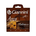 Encordoamento Giannini para Violino Serie Arco Geavva Tensao Media