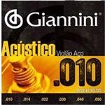 Encordoamento Giannini Série Acustico P/ Violão Aço 010