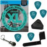 Encordoamento Guitarra 013 062 Daddario EXL158 Baritone Light + Acessórios IZ1