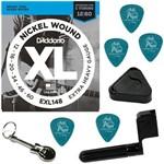 Encordoamento Guitarra 012 060 Daddario EXL148 Extra Heavy + Acessórios IZ1