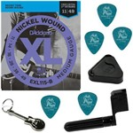 Encordoamento Guitarra 011 049 Daddario EXL115 Medium Gauge + Acessórios IZ1