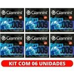 Encordoamento Guitarra 09 046 Híbrido Giannini GEEGSTH9 - Kit com 6 Unidades