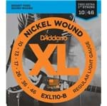 Encordoamento Guitarra D'Addario 010-046 EXL110-B Regular Light - com Corda Extra
