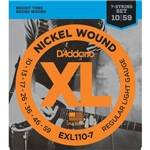 Encordoamento Guitarra de 7 Cordas 010 Daddario EXL110-7