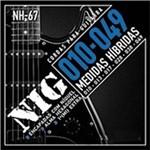 Encordoamento Guitarra Eletrica Nig 010/049 Nh67 Hibridas