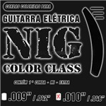 Encordoamento Guitarra Nig 010 N1640 Color Class Preto
