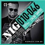 """Encordoamento Nig para Guitarra Cs-90 - Signature Cacau Santos - .010""""/.046"""""""