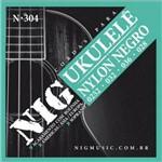 """Encordoamento Nig para Ukulele Soprano N-304 - Nylon Negro - .0252""""/.028"""""""