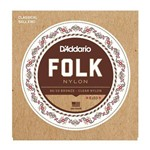 Encordoamento Nylon Violão Folk EJ33 80/20 - D'Addario