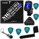 Encordoamento P/ Guitarra 09 042 Nig Color Class Azul N1633 + Kit IZ2