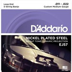 Encordoamento para Banjo Nickel Custon Medium 11-22 Ej-57 - D Addario