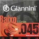 Encordoamento para Contra-Baixo 5 Cordas Giannini (.045-.130) GEEBRS5