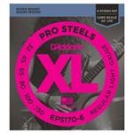 Encordoamento para Contra-Baixo 6 Cordas D'Addario EPS170-6 Pro Steels (.032-.130)