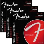 Encordoamento para Guitarra 013 056 Fender Jazz Medium 250JM - Kit com 3 Unid.